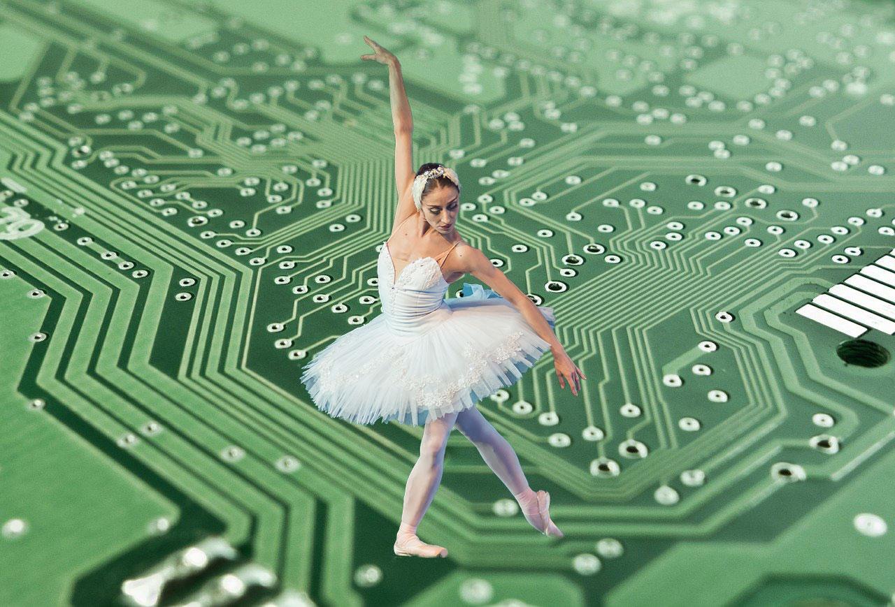 Uma audição em que um computador escolhe os bailarinos